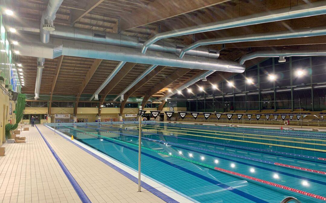 Nuove luci allo Stadio del Nuoto di Monterotondo
