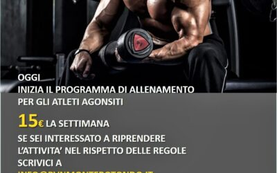 Inizia programma allenamento per agonisti FIPE